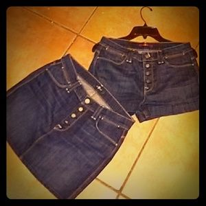 7 FOR ALL MANKIND BUNDLE NWT SZ 27 SHORTS & SKIRT